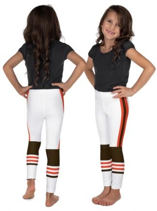 New Cleveland Browns Football Uniform Leggings for Kids Children Teens