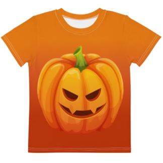 Halloween Orange Pumpkin Kids T-shirt / Short Sleeve