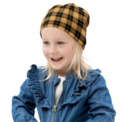 Scottish Tartan Plaid Beanie Winter Hat for Kids