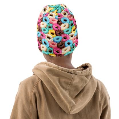 Sweet Donut Doughnut Donuts Beanie Hat For Kids